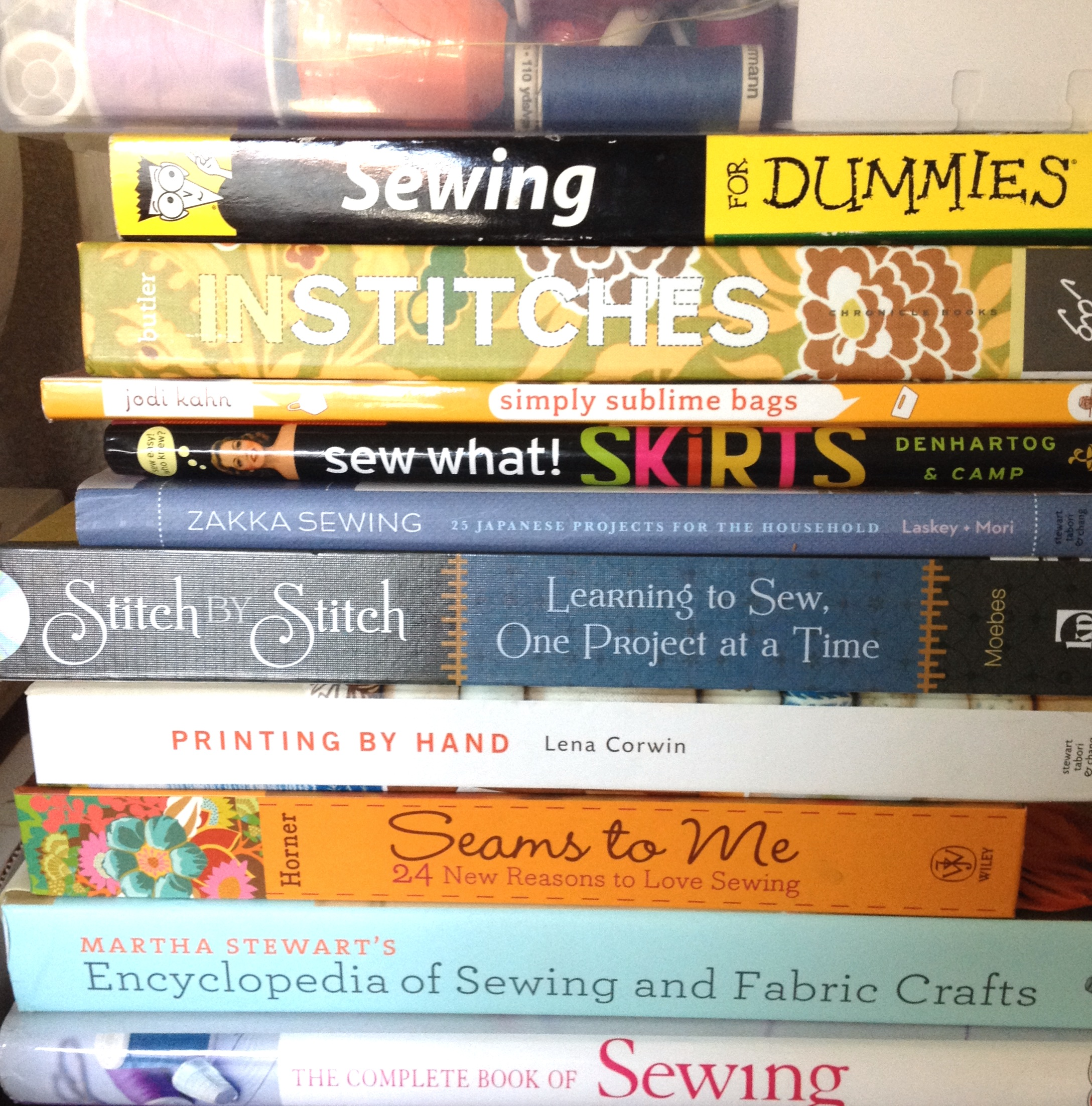 Revisiting my Sewing Books