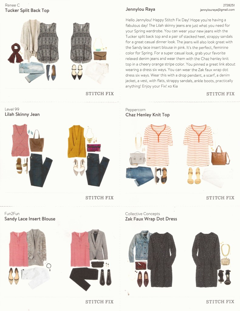 April 2015 Stitch Fix Box