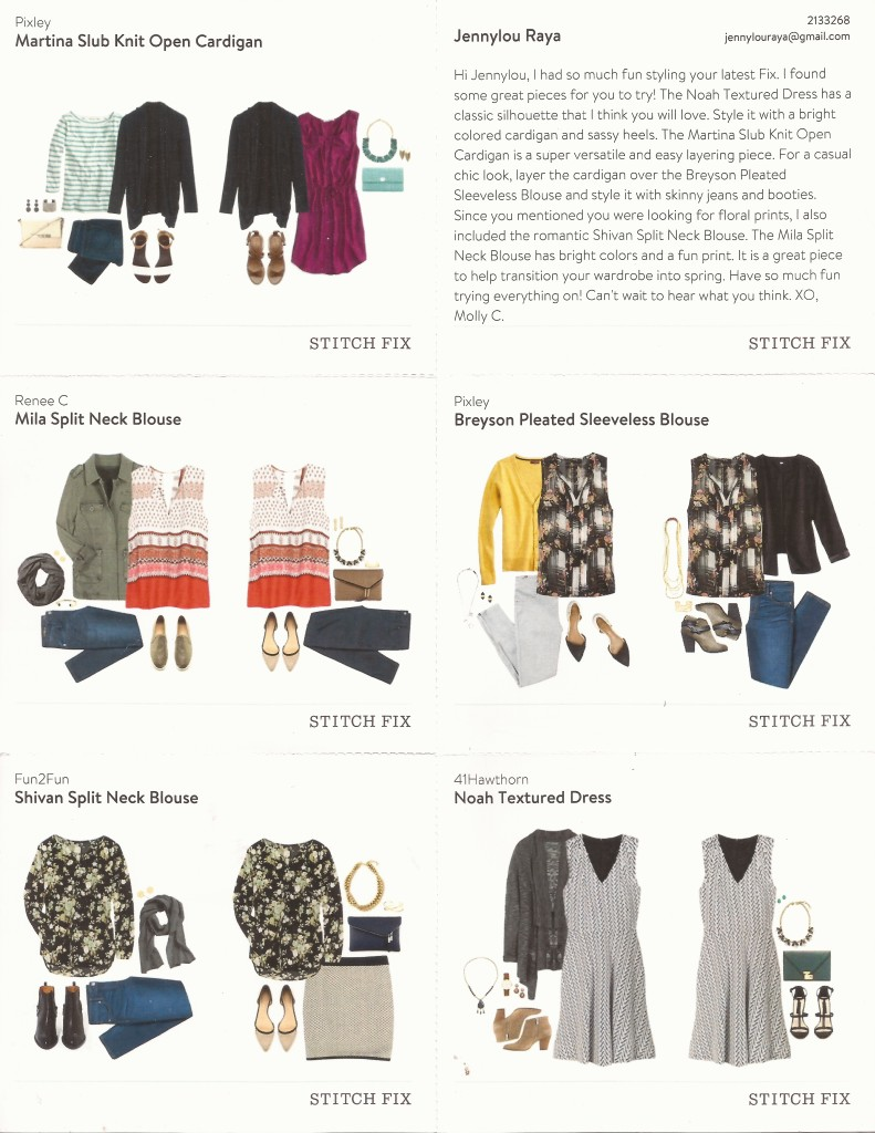February Stitch Fix Box Jennylou Raya