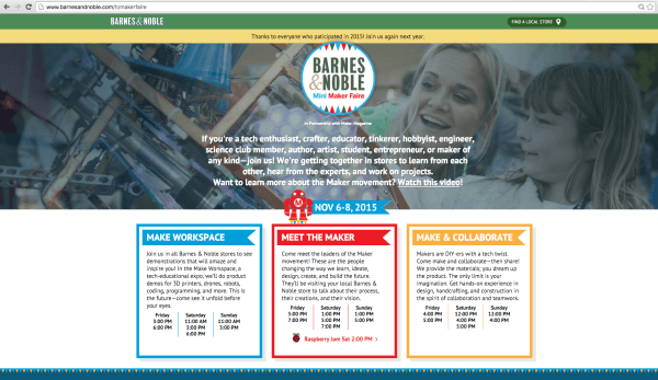 Banrnes & Noble Maker Faire