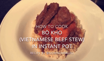 Bo Kho in an Instant Pot using @NomNomPaleo's Recipe