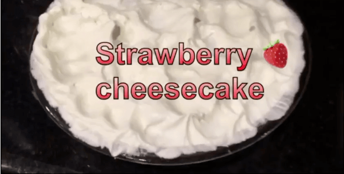 The Not-too-sweet Easy Strawberry Cheesecake {Recipe}